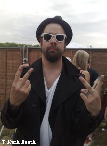 Daniel P. Carter backstage at Download 2009